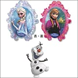 セットでお得 キャラクター風船 アナと雪の女王とオラフ 10242
