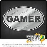 ゲーマーズ Gamers 18cm x 11cm 15色 - ネオン+クロム! ステッカービニールオートバイ