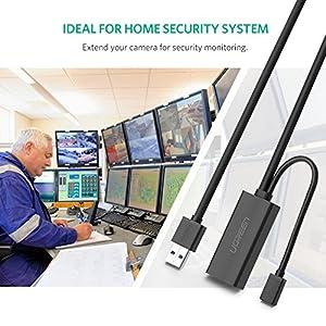 UGREEN USB 延長ケーブル USB 3.0 リピーターケーブル 信号強化 高速データ転送 金メッキ アクティブ式 5M