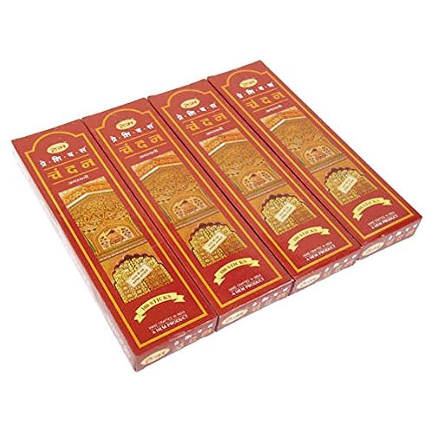 植物学コーチインチHEM チャンダン スティック エコノミーパック 100P 4箱セット