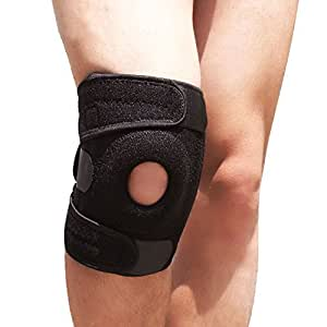 microrange 膝 サポーター 膝固定 関節靭帯保護 フリーサイズ アウトドア スポーツ ブラック