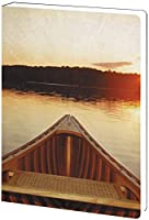 Tree-Free Greetings Recycled Soft Cover Journal Ruled 5.5 x 7.5 Inches 160 Pages Serene Canoe Themed Outdoor Life Art (89111) [並行輸入品]