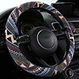 SHAKAR Fashion Steering Wheel Covers,Universal 15 inch Bohemian