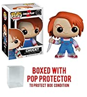 Funko POP 。Horror Movies : Childs Play 2 – CHUCKY Vinyl Figure (バンドルwith Popボックスプロテクターケース)