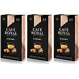 【caramel(キャラメル)×3】Cafe Royal(カフェロイヤル)フレーバー単品×3パック 国内正規品 ネスプレッソ互換カプセル 30カプセル入 味わいの強さ 4/10 エスプレッソ抽出用
