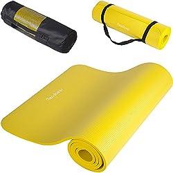 Readaeer® ヨガマット トレーニングマット エクササイズマット ゴムバンド・収納ケース付 厚さ10mm