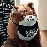 超可愛い ぽちゃぽちゃ 犬の子 柴犬 BIGぬいぐるみ 座高38cm (ブラウン)