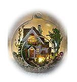 COCOHOP 森の国 ミニチュア ドール ハウス 組立 キット ハンドメイド おしゃれな 球体 ガラス 手作り インテリア 山小屋 ログハウス DIY (森林の家)