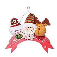 BESTOYARD 3本クリスマスドアハンガークリスマスの壁掛けサンタクローストナカイスノーマンの装飾品メリークリスマス