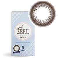 カラコン 2ウィーク ゼル 2week ZERU. 1箱6枚入り ナチュラルサークルレンズ (ダークブラウン, -0.00度なし)