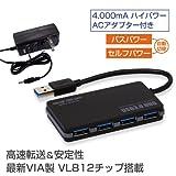システムトークス USB3.0HUB 4ポート USB3-HUB4SA