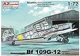 AZモデル 1/72 ドイツ空軍 メッサーシュミットBf109G-12 G-6ベース型 プラモデル AZM7610