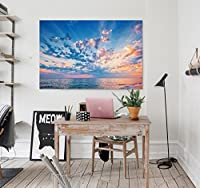 """3D 美しい空 414 ウォールステッカー ビニール 壁の壁画 印刷 デカール アート  自己粘着性 大 ウォールステッカー AJ WALLPAPER JP Zoe (【19.7"""" x 11.8""""】50x30cm(WxH), ビニール(接着剤なし&取り外し可能))"""