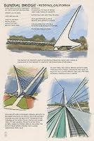 レディング、カリフォルニア–Sundialブリッジ 12 x 18 Art Print LANT-48551-12x18