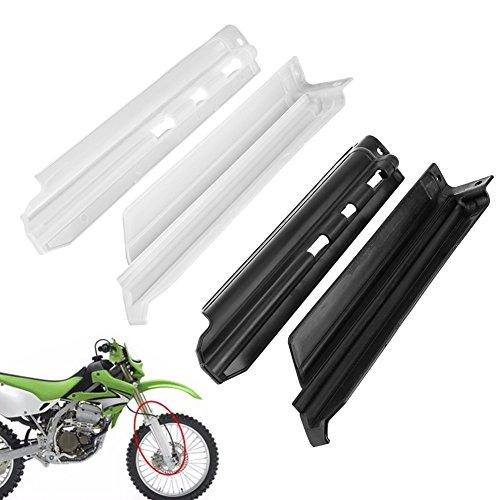 1ペアオートバイmotocicletaフロントフォークスライダーガード保護カバーfitsフォークプロテクターカバー用kawasaki klx650 klx250r-black