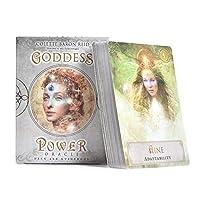 タロットカード、女神パワーオラクル:デッキとガイドブックカード、52枚の家族の集まりパーティーのためのタロットテーブルゲームカード