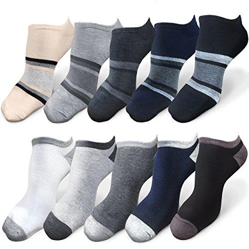 IGRESS 靴下 メンズ くるぶしソックス くるぶし靴下 アンクルソックス スニーカーソックス ショートソックス くつ下 抗菌防臭 24-28㎝ 10足セット