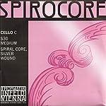 Thomastik-Infeld Spirocore 4/4 Cello C String - Silver/Steel - Medium Gauge 【TEA】 [並行輸入品]