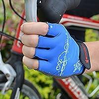 サイクリンググローブ 手袋 トレーニンググローブ 男女兼用 バイク ハーフフィンガー  自転車用 指切り 耐磨耗性/耐震/滑り止め付き 2色