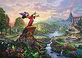 西洋絵画 ディズニー ミッキーマウス ファンタジア 42x30cm Fantasia トーマス キンケード