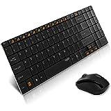 ユニーク 2.4GHzワイヤレスキーボード&マウス rapoo 9060 ブラック 9060