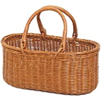 型番694(694) 籐手編みかごバッグ 買い物かご 収納?整理バスケット 【かごのお店ラッセル】