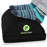 ErgoFoam Adjustable Desk Foot Rest for Added Height (Mesh) - Large Premium Under Desk Footrest   Pet-Friendly Foot Rest Under Desk for Lumbar, Back, Knee Pain   Foot Stool Rocker (Black)
