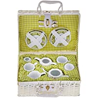 Delton Products Bunny Large Dollies Tea Set in Basket [並行輸入品]