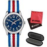 【1本用時計ケース・マイクロファイバークロス2枚セット】[タイメックス]TIMEX タイムティーチャー TIME TEACHER 腕時計 31mm(キッズ・レディスサイズ) TW7C09900 Blue【正規輸入品】