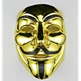VIP Gold Version V for Vendetta Mask/Anonymous/Guy Fawkes mask mask
