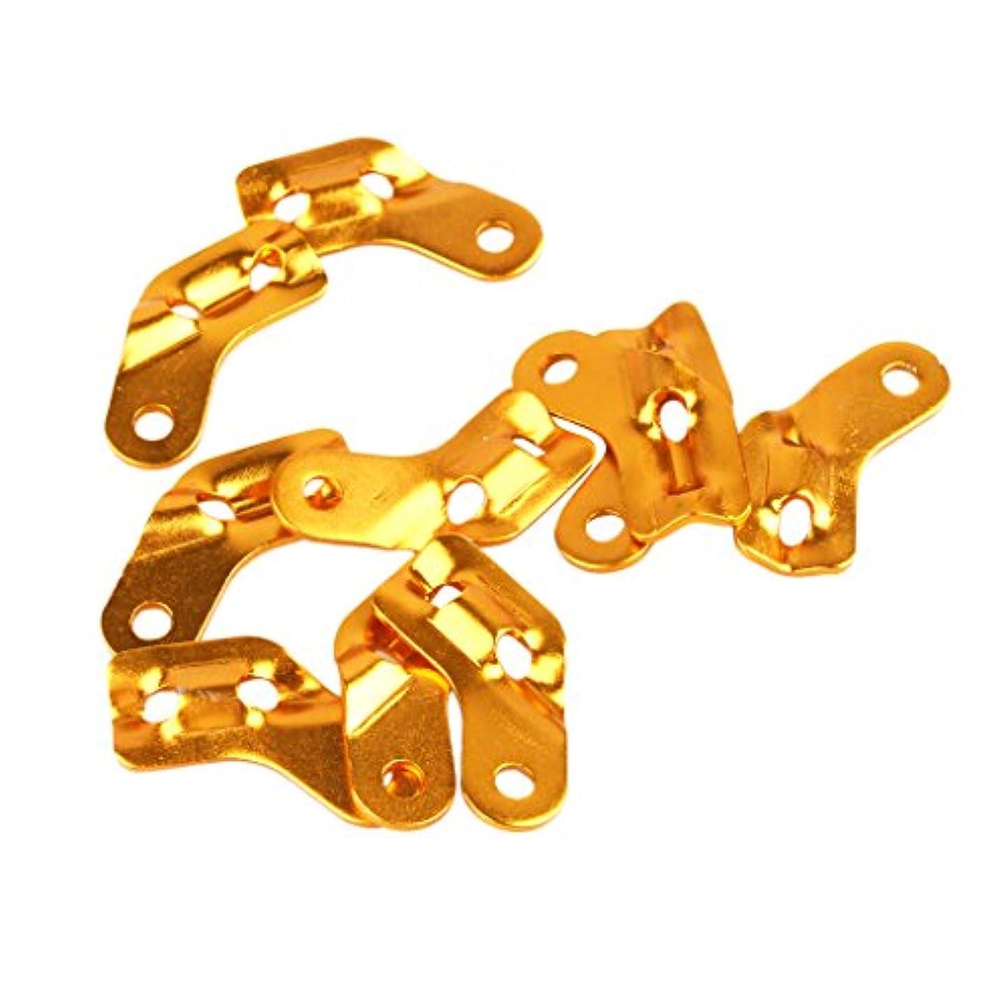 アリ宙返り眉【ノーブランド品】アルミニウム合金製 L字型 アドジャスタブル ロープ テンショナー アンチスリップ (ゴールド) 10個