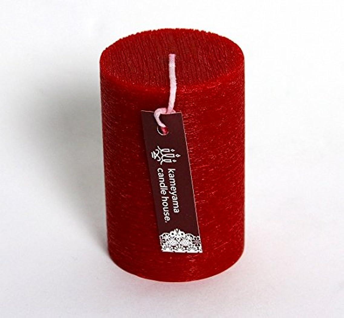 大理石湿地全員カメヤマキャンドル(kameyama candle) ブラッシュピラー2×3 「 レッド 」