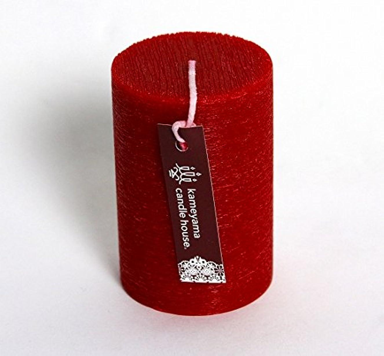 なので不公平間接的カメヤマキャンドル(kameyama candle) ブラッシュピラー2×3 「 レッド 」