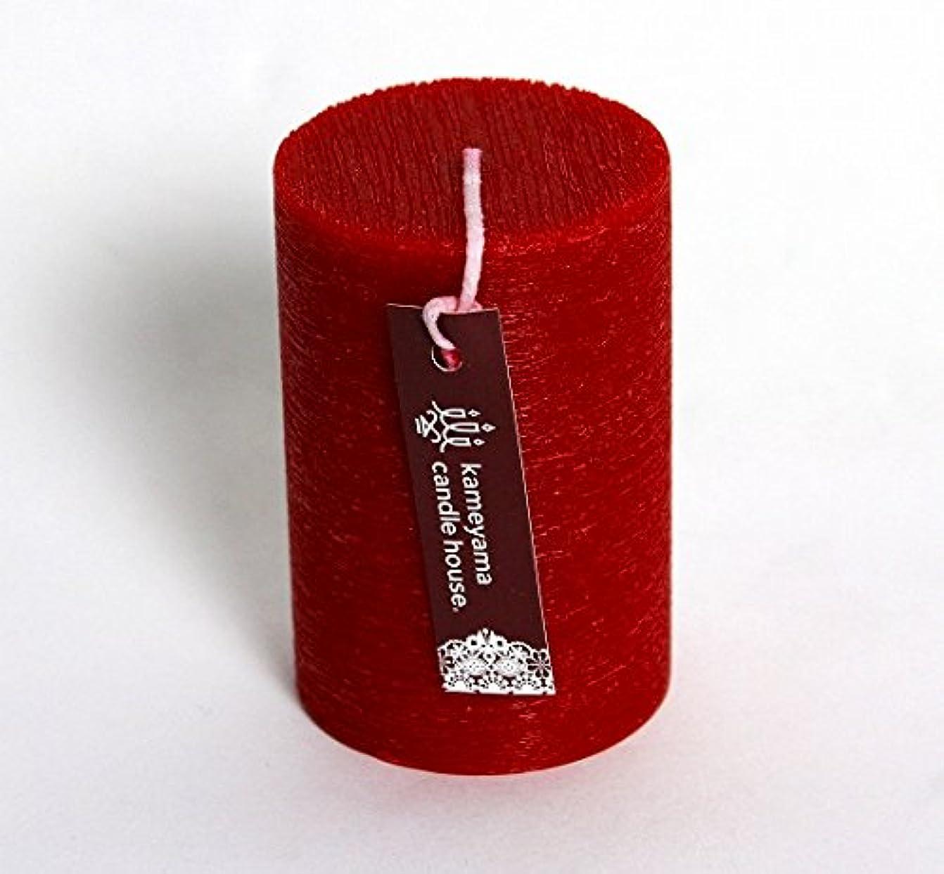 暴力電話する透けて見えるカメヤマキャンドル(kameyama candle) ブラッシュピラー2×3 「 レッド 」