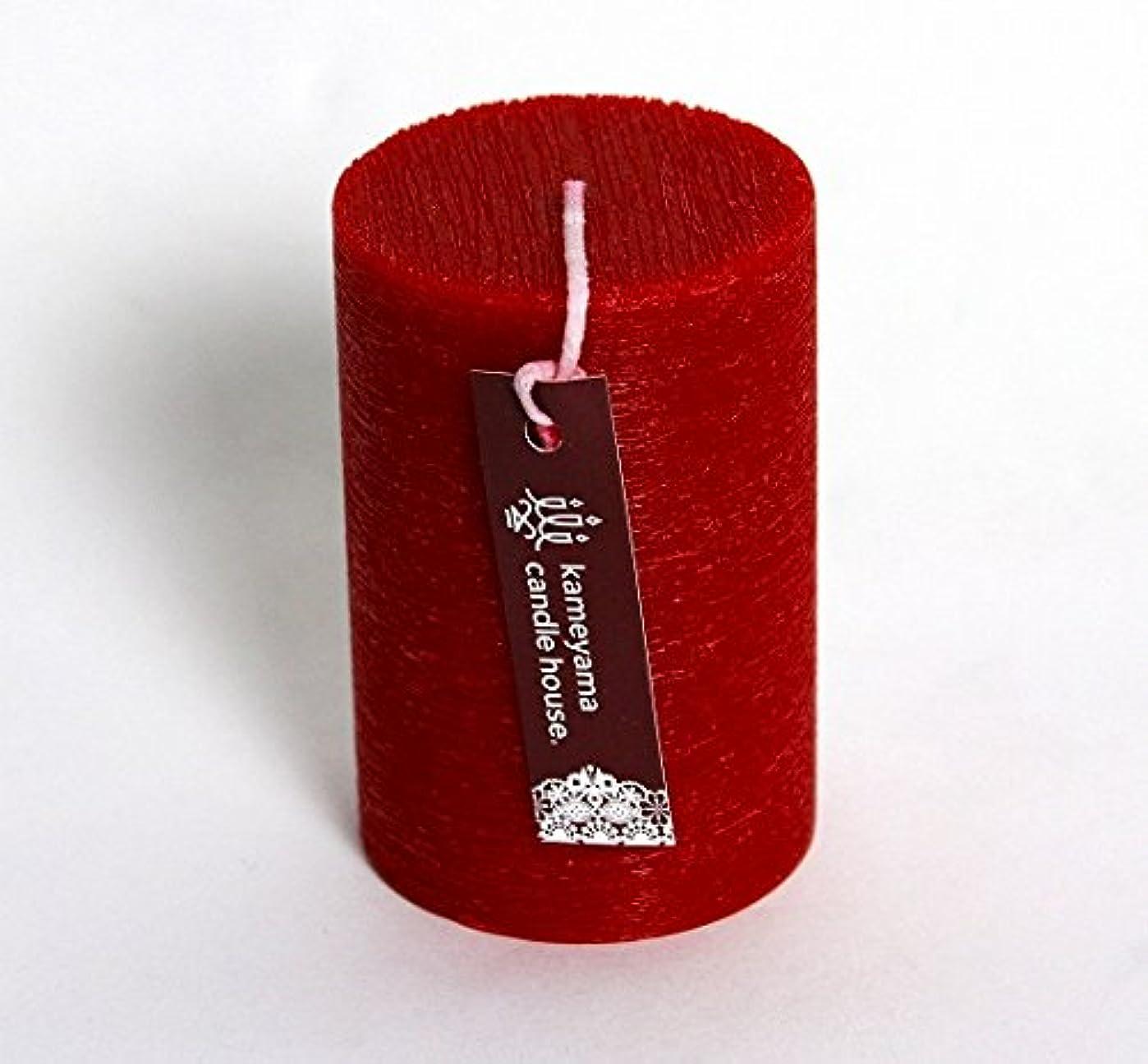のイル雷雨カメヤマキャンドル(kameyama candle) ブラッシュピラー2×3 「 レッド 」