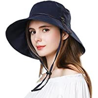 UV50 Foldable Sunhat Women Ponytail Hole Safari Beach Fishing Bucket Hat 55-61CM
