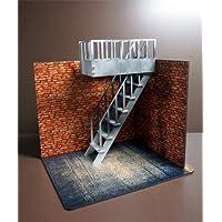 ミニチュア ドールハウス 1/10 非常階段 右側 15センチ 12センチドールに合うサイズです。