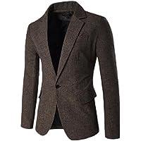 Sodossny-AU Men's Suit Jacket Dress Blazer Notched Lapel Single Breasted One Button Jacket
