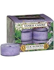 Yankee CandleライラックBlossomsティーライトキャンドル、花柄香り