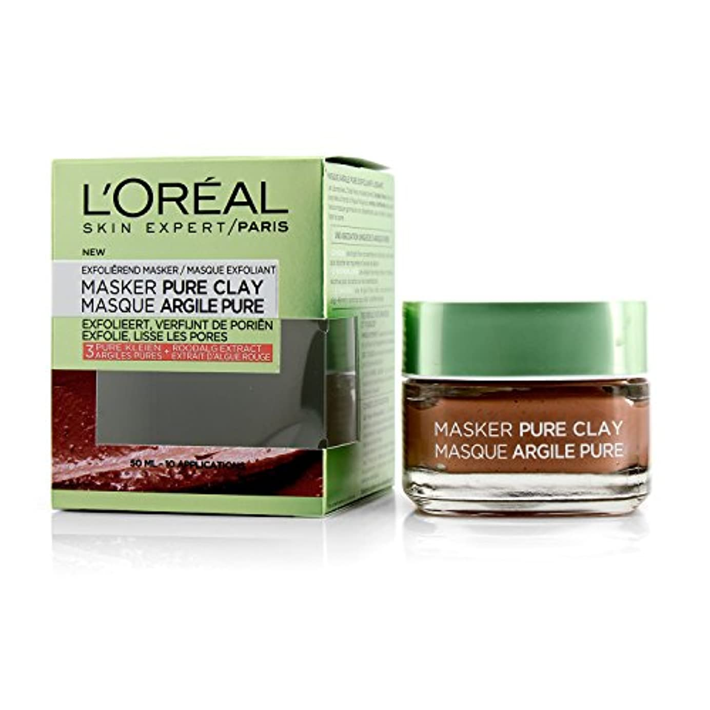 ロレアル Skin Expert Pure Clay Mask - Exfoliate & Refine Pores 50ml/1.7oz並行輸入品