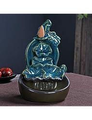 PHILOGOD 陶器 逆流香炉 蓮の葉クリエイティブスタイリング香炉 お香 ホルダー 香立て