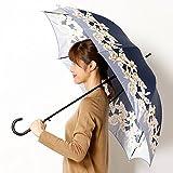 ミラ・ショーン(雑貨)(mila schon) 雨傘(ジャンプ傘)【耐風】(レディース)花柄【74ネイビー/60 】