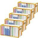 アストロ 本収納ケース 5枚組 オレンジ 不織布製 文庫本の収納にぴったりです 609-01