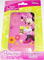 [ディズニー]Disney Minnie Mouse Bowtique Switchplate Cover Baby Nursery Kids Bedroom Light Switch Wall Decor 37936 [並行輸入品]