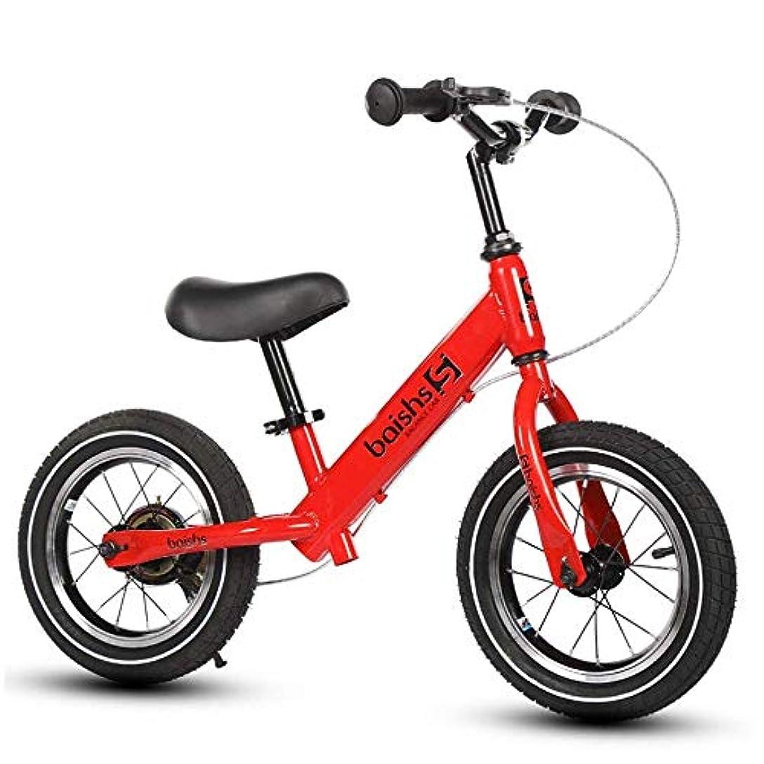 マーキー偏見チラチラする子供用 自転車 折りたたみ自転車 男の子と女の子用のバランスバイク、16インチペダルバイクなしウォーキングトレーニングバイク、調整可能なハンドルバーとシート付き、2,3,4,5,6歳用 ライト 自転車