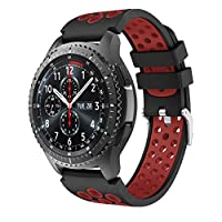 Syxinn Compatible with Samsung Galaxy Watch3 45mm Band Gear S3 Frontier/Classic/Galaxy Watch 46mm Band Soft Silicone Replacement Wristband Bracelet Sport Strap for Gear S3/Moto 360 2nd Gen 46mm