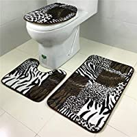 室内カーペット 浴室の敷物は3マリンスタイルのトイレマットカーペットアンダーウォーターワールドドルフィンを設定しました 寝室のカーペット (色 : Tiger pattern)