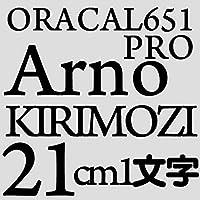 21センチ arnopro ブラック sRGB 6,6,7 oracal651 ファイングレード 切文字シール カッティングシール カッティングステッカー