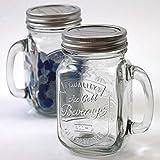 """ダルトン メイソンジャー """"Glass jar with handle"""" (S515-314)"""