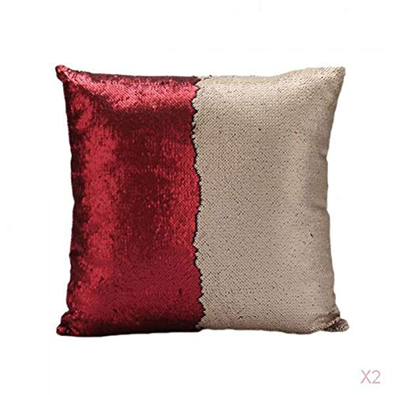ラップトップアルカトラズ島ボランティア赤可逆スエードスパンコールソファ腰クッションカバーベッドの枕カバースリップ